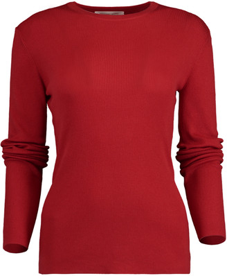Michael Kors Crimson Featherweight Cashmere Top