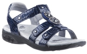 THERAFIT Shoe Charlotte Embossed Jeweled Adjustable Sandal Women's Shoes