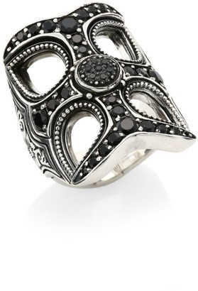 Konstantino Circe Sterling Silver & Black Spinel Statement Ring