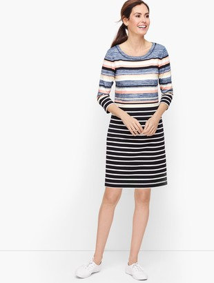 Talbots Colorful Multi Stripe Dress