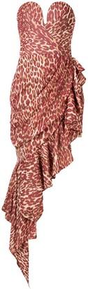 Rasario leopard-print asymmetric dress