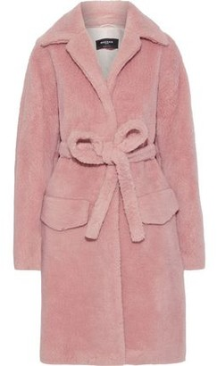 Rochas Belted Wool-blend Fleece Coat