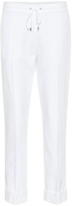 Kenzo High-rise straight cotton pants