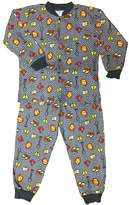 Snoozers Builder Boy Print Cotton Flannel Pajama Set