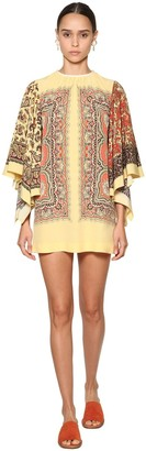 Etro Printed Silk Twill Mini Dress