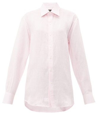 Emma Willis Jermyn Slubbed-linen Shirt - Womens - Light Pink