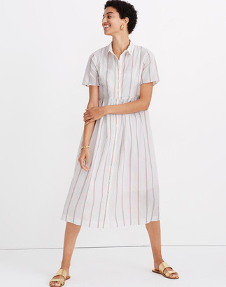 Madewell Petite Striped Midi Shirtdress