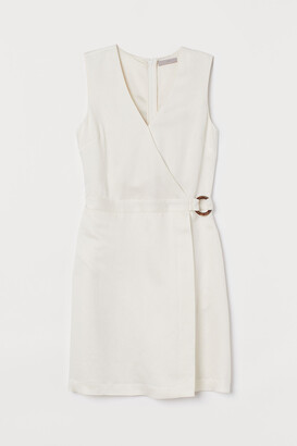 H&M Linen-blend wrapover dress