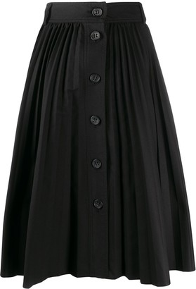 RED Valentino A-line pleated midi skirt
