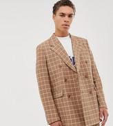 Noak double breasted suit jacket in light camel