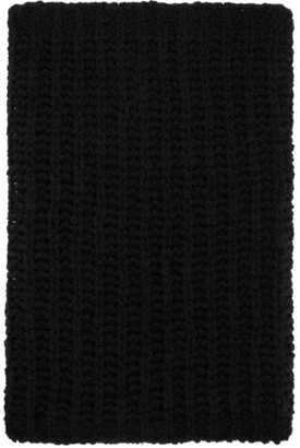 Rick Owens Black Knit Tube Fisherman Scarf