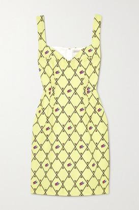 Emilia Wickstead Jude Printed Crepe Mini Dress - Light green