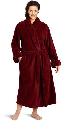 Casual Moments Women's Plus-Size 50 Inch Set-in Belt Robe