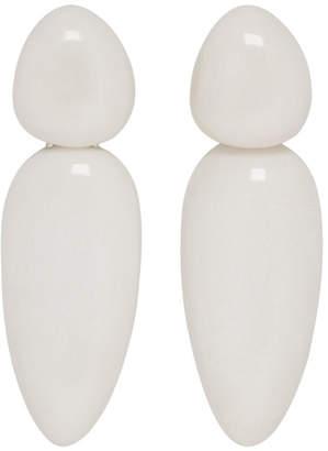 Monies Jewellery White Sao Paolo Earrings
