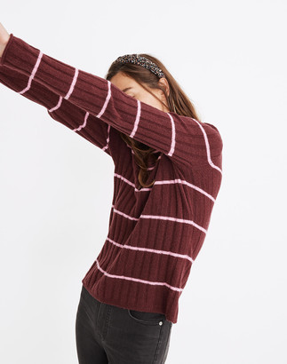 Madewell Striped Evercrest Turtleneck Sweater in Coziest Yarn