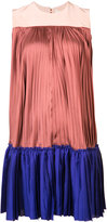 Roksanda blockcolour pleated dress - women - Polyester/Silk - 6