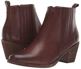 Frye Alton Chelsea (Cognac Washed Veg Tan) Women's Boots