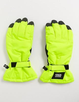 ASOS 4505 ski gloves in neon