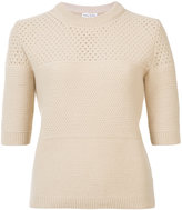 Sonia Rykiel cashmere round neck knitted T-shirt
