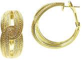 Judith Ripka 14K Clad Diamonique Hoop Earrings