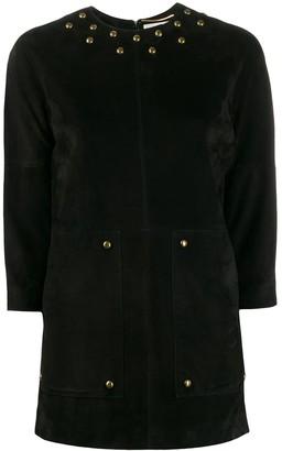 Saint Laurent Stud Detail Mini Dress