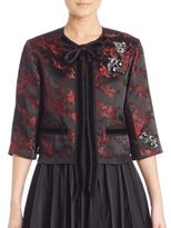 Marc Jacobs Floral Jacquard Cropped Jacket