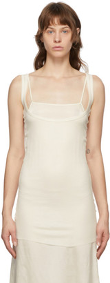 Ann Demeulemeester Off-White Cashmere Tank Top