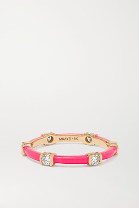 Melissa Kaye Zea 18-karat Rose Gold, Enamel And Diamond Ring - 6