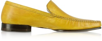 Pakerson Yellow Italian Handmade Leather Loafer Shoes