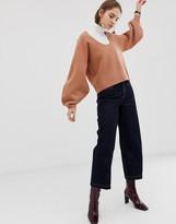 Asos boiled wool banana sleeve knit sweater