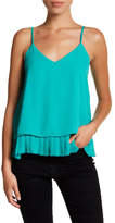 Halogen Pleated Hem Cami Tank (Petite & Regular)
