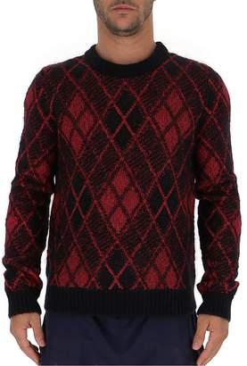 Saint Laurent Burlington Diamond Patterned Sweater
