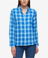 Tommy Hilfiger Cotton Plaid Shirt, Only at Macy's