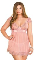iCollection Lingerie iCollection Women's Plus Size Cap Sleeve Babydoll