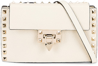 Valentino Small Cross Body Bag in Light Ivory | FWRD