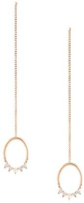 Natalie Marie 14kt rose gold Mahina diamond and pearl drop studs
