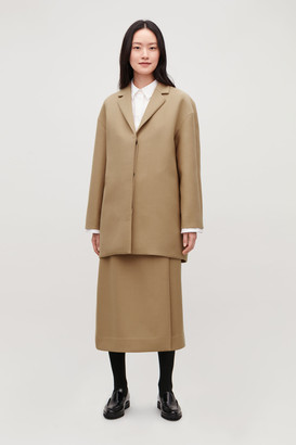 Cos Wool-Blend Cocoon Coat