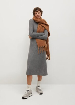MANGO Ribbed knit dress
