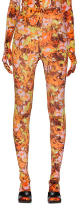 Richard Quinn Orange Floral Leggings
