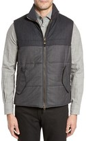 Luciano Barbera Men's Wool Blend Tech Vest