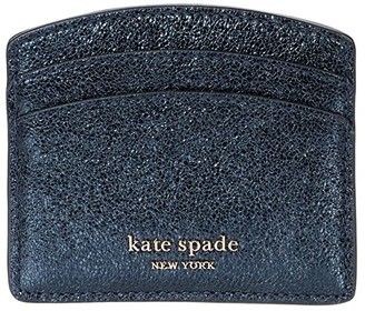 Kate Spade Spencer Metallic Card Holder (Metallic Night) Handbags
