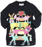 Simonetta Animals Printed Cotton Sweatshirt Dress