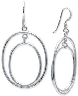 Giani Bernini Double Oval Drop Earrings in Sterling Silver, Created for Macy's