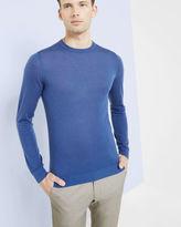 CREWVIN Crew neck silkblend sweater