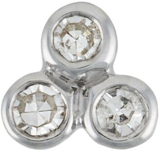 Maria Black Diamond Triad Labret stud earring