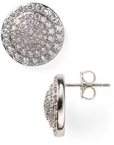 Nadri Round Pave Stud Earrings