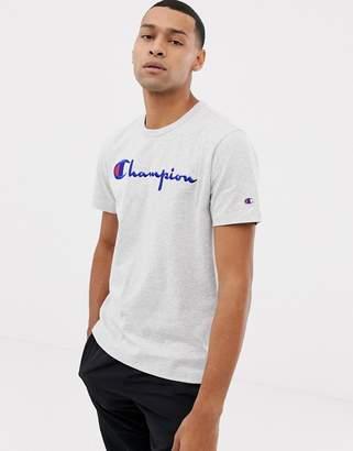 Champion Script Logo t-shirt in grey