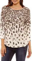 A.N.A Long Sleeve Scoop Neck Pullover Sweater-Talls