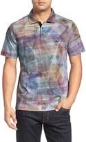Bugatchi Men's Print Cotton Polo Shirt
