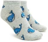Forever 21 FOREVER 21+ Whale Print Ankle Socks